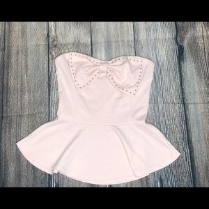 Light Pink Peplum Top NWOT
